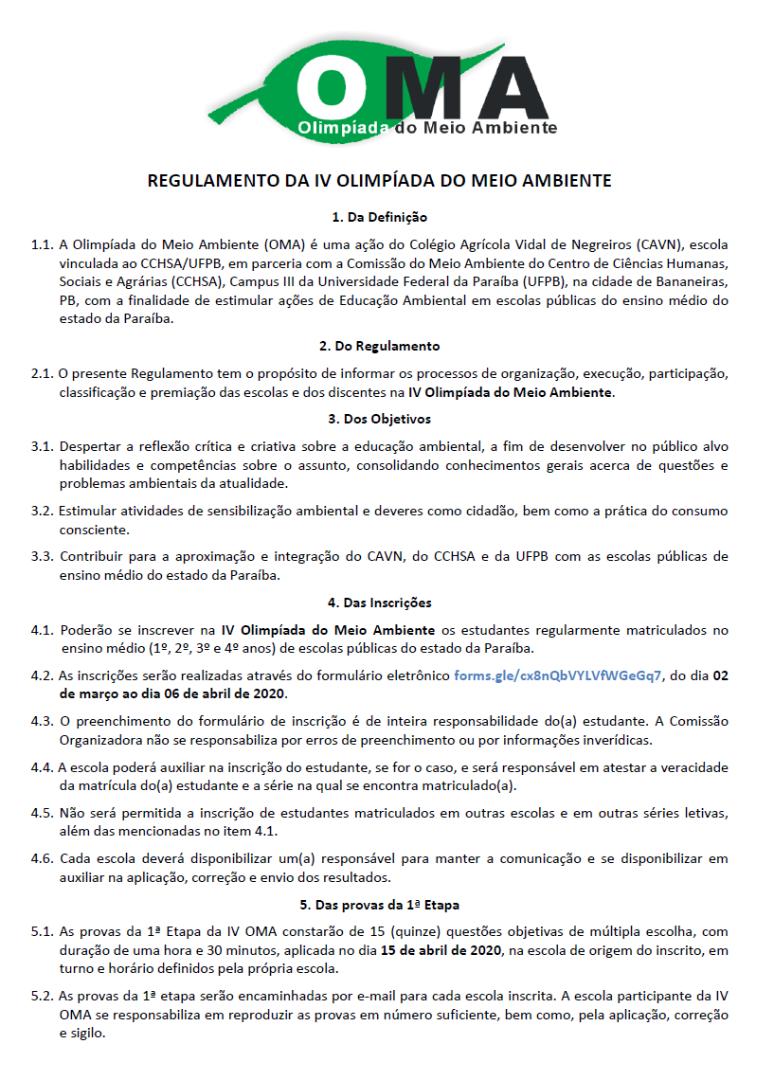 Regulamento da IV Olimpíada do Meio Ambiente 2020 01.png