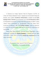 CAVN emite nota de pesar pelo assassinato do ex-aluno Rodrigo Freitas Celestino e do Sr. José Bernardo.