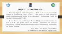 No dia de São José, dois projetos são iniciados no âmbito do CAVN.